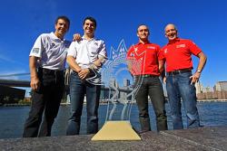 GT champions Emil Assentato and Jeff Segal and DP champions Scott Pruett and Memo Rojas