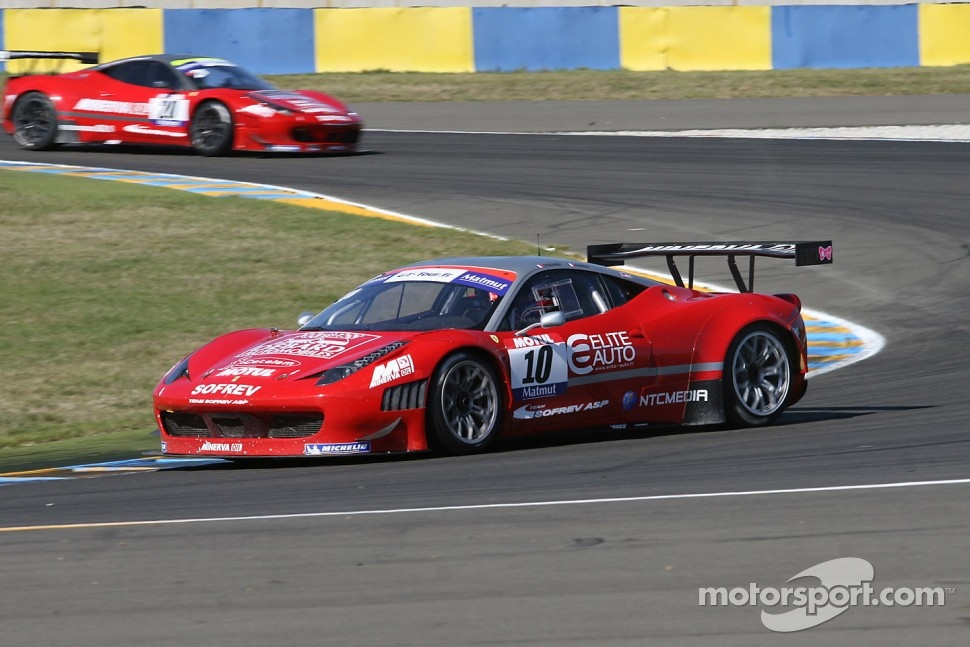 #10 Sofrev ASP Ferrari 458 Italia: Eric Debard; Olivier Panis