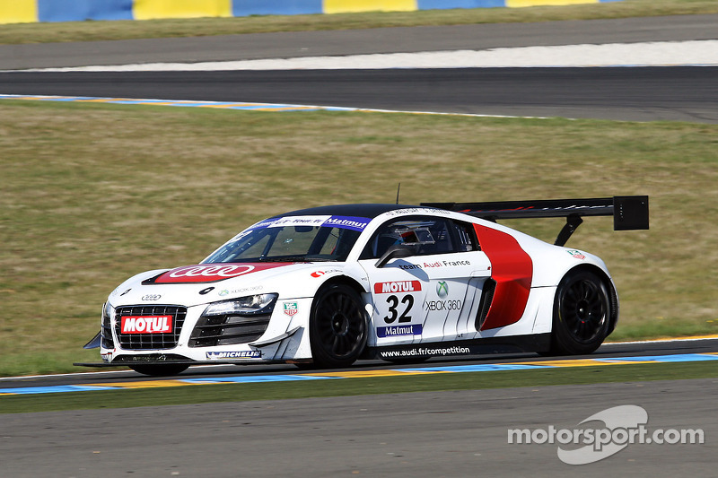 #32 Team Audi France  Audi R8 LMS Ultra: David Hallyday; Stéphane Ortelli
