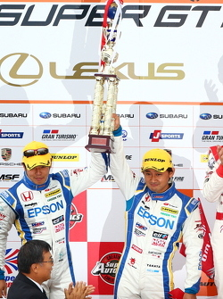 GT500 podium: second place Ryo Michigami, Yuki Nakayama