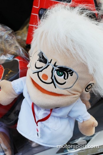 Bernie Ecclestone, CEO Formula One Group, hand puppet on sale