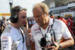 Paddy Lowe, McLaren Technical Director with Bob Fernley, Sahara Force India F1 Team Deputy Team Principal on the grid