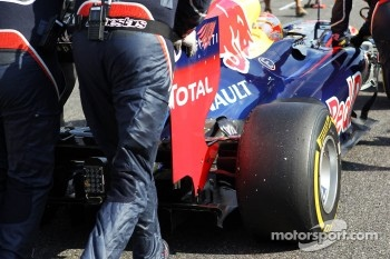 Sebastian Vettel, Red Bull Racing rear wing detail