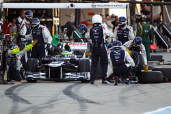 Bruno Senna, Williams makes a pit stop