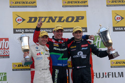 Round 27 Podium: 1st Jason Plato, 2nd Mat Jackson, 3rd Rob Collard