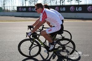 Michael Schumacher, Mercedes AMG F1 rides the circuit