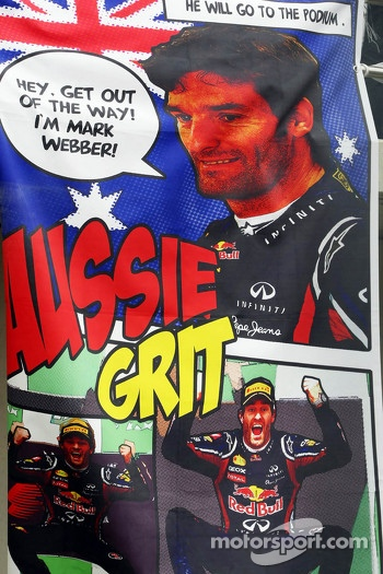 Banner for Mark Webber, Red Bull Racing