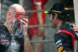 Adrian Newey, Red Bull Racing technical director and Mark Webber, Red Bull Racing