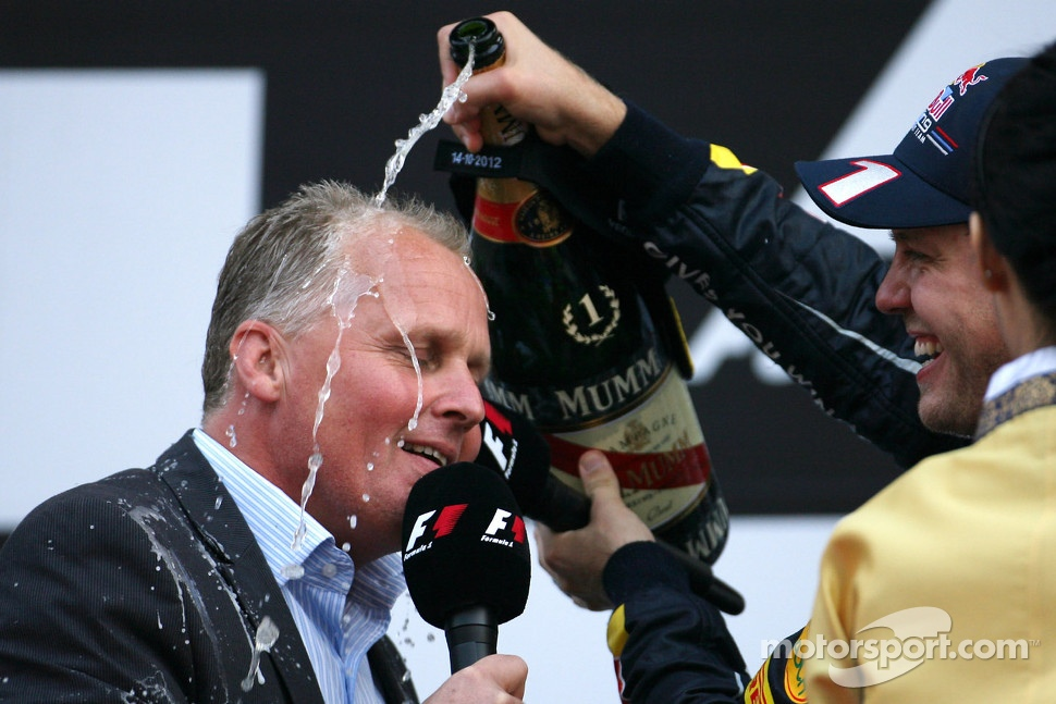 Johnny Herbert, and Sebastian Vettel, Red Bull Racing
