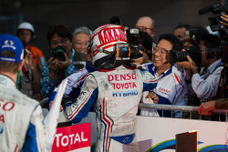 Kazuki Nakajima after winning race