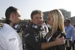 Gerhard Ungar, Chief Designer AMG and Cora Schumacher, wife of Ralf Schumacher