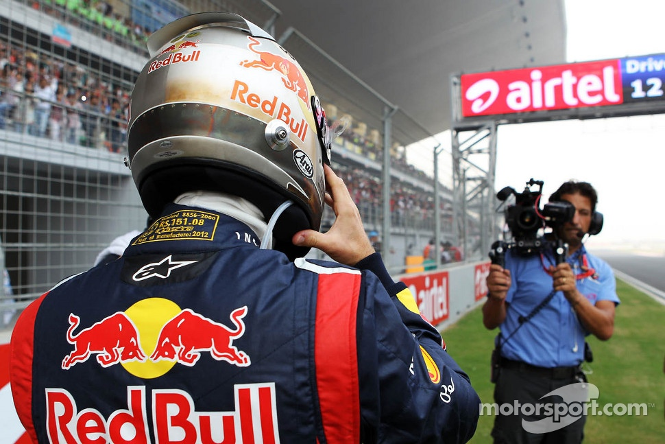 Sebastian Vettel, Red Bull Racing on the grid