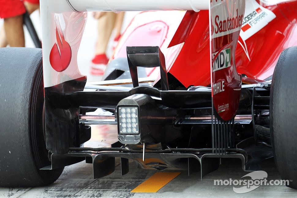 Ferrari rear wing and rear diffuser detail