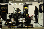 Lotus F1 garage