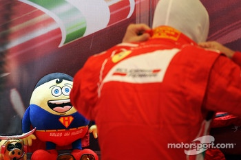 Fernando Alonso, Ferrari with his mascot Tomita