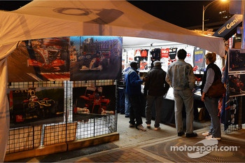 F1 stand in Austin at night
