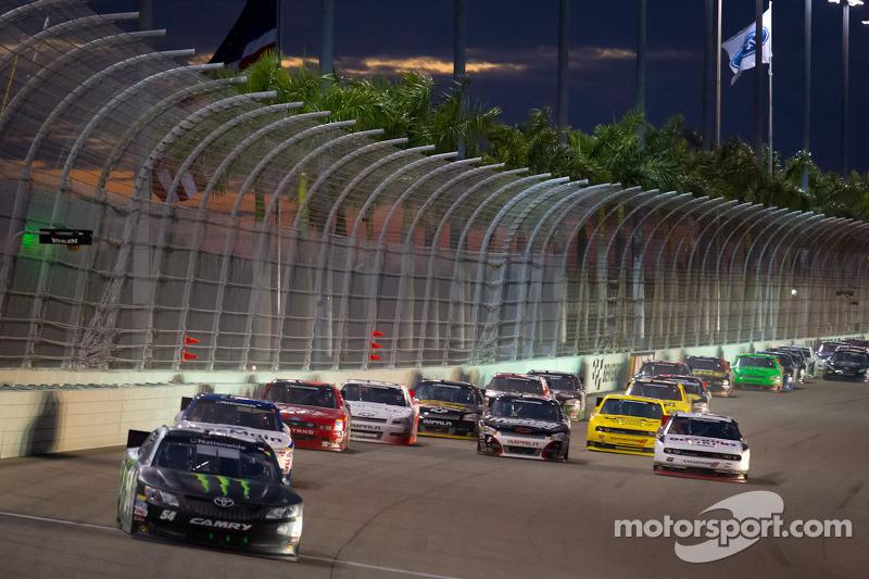 Kyle Busch, Kyle Busch Motorsports Toyota leads the field