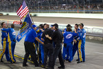 Penske Racing team members celebrate 2012 NASCAR Sprint Cup series championship