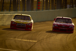 Sam Hornish Jr., Penske Racing Dodge, Joey Logano, Joe Gibbs Racing Toyota