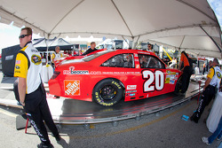 Car of Joey Logano, Joe Gibbs Racing Toyota at technical inspection