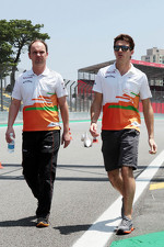 Jules Bianchi, Sahara Force India F1 Team Third Driver walks the circuit