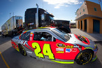 Car of Jeff Gordon, Hendrick Motorsports Chevrolet at technical inspection