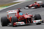 Fernando Alonso, Ferrari leads team mate Felipe Massa, Ferrari