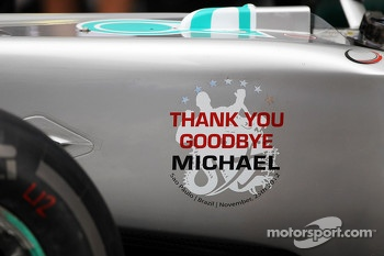 Mercedes say goodbye to Michael Schumacher, Mercedes AMG F1 at a farewell to F1 team photograph