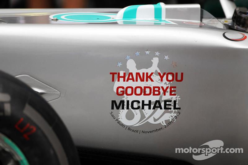 Mercedes verabschiedet Michael Schumacher, Mercedes AMG F1