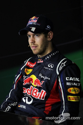 World Champion Sebastian Vettel, Red Bull Racing in the FIA Press Conference