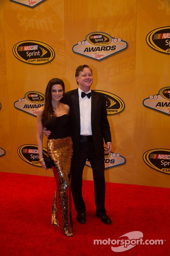 Brian France, CEO of NASCAR arrives