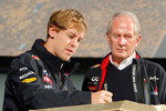 Sebastian Vettel, Red Bull Racing with Dr. Helmut Marko