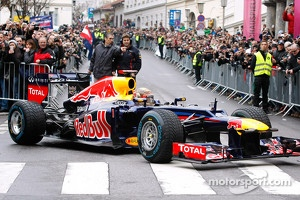 Sebastian Vettel celebrating in Graz