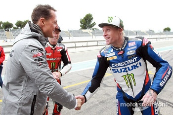 Michael Schumacher and Keith Flint