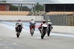 Michael Schumacher, Randy Mamola, Keith Flint and John McGuinness