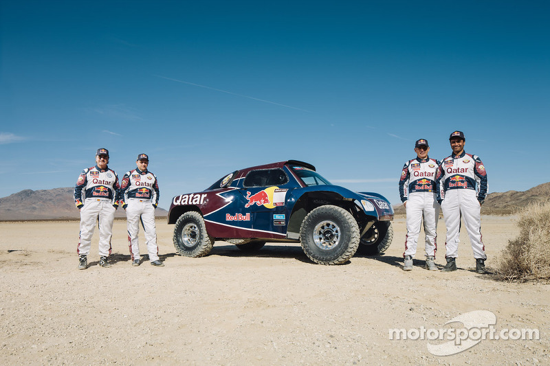 Carlos Sainz, Timo Gottschalk, Nasser Al-Attiyah and Lucas Cruz