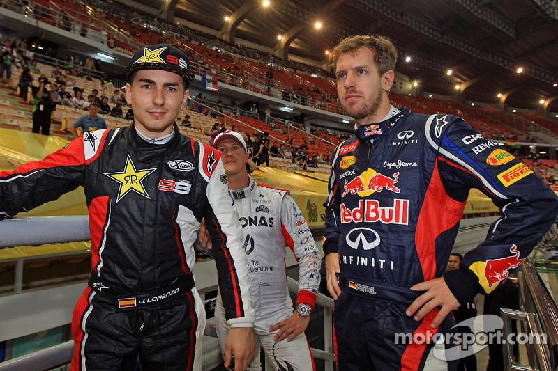 Jorge Lorenzo and Sebastian Vettel