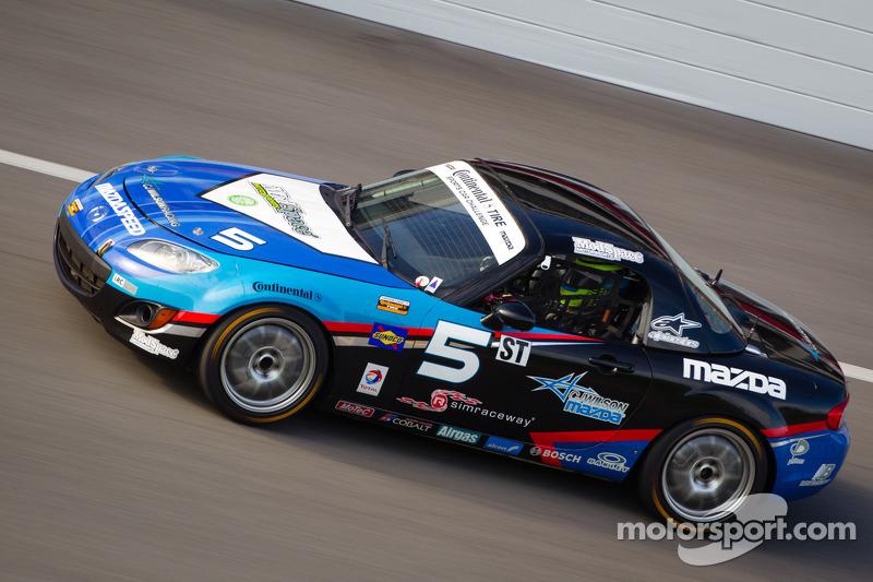 #5 CJ Wilson Racing Mazda MX-5: Stevan McAleer, Chad McCumbee, Marc Miller, Jason Saini