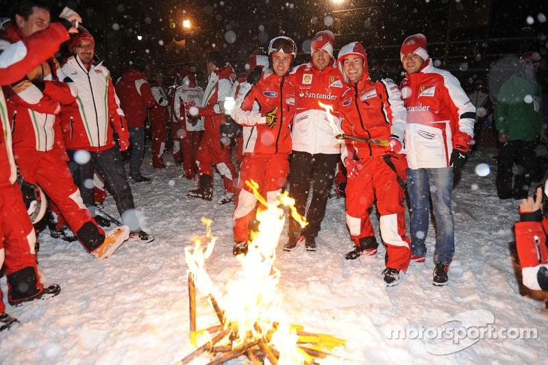 Andrea Dovizioso and Nicky Hayden, Ducati Marlboro Team and Fernando Alonso and Felipe Massa, Scuderia Ferrari