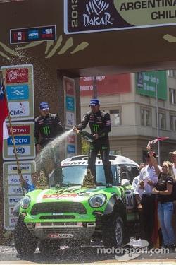 Car winners Stéphane Peterhansel and Jean-Paul Cottret