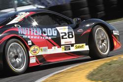 #28 Ferrari of Beverly Hills Ferrari 458: Jon Becker spins