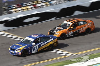 #81 BimmerWorld Racing BMW 328i: Tyler Cooke, Gregory Liefooghe and #56 RACE EPIC/ Murillo Racing BMW 328i: Jesse Combs, Jeff Mosing