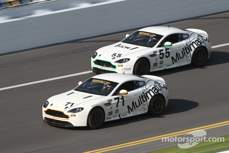 #71 Multimatic Motorsports Aston Martin Vantage: Tonis Kasemets, Michael Marsal and #55 Multimatic Motorsports Aston Martin Vantage: Jade Buford, Scott Maxwell