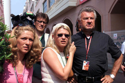 Michael Schumacher manager Willi Weber and wife Corinna Schumacher