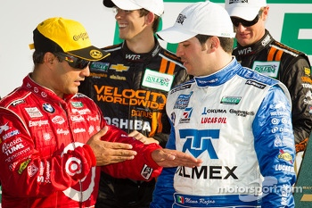 DP podium: class and overall winners Juan Pablo Montoya and Memo Rojas