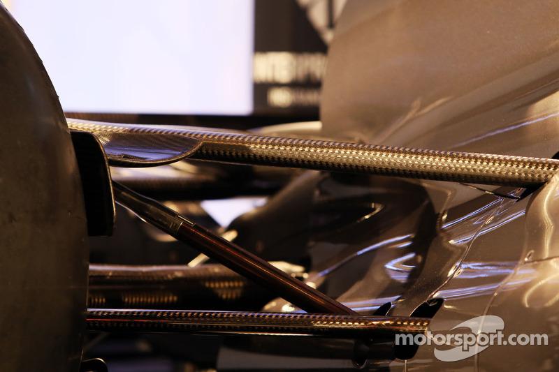 Sauber C32 rear suspension detail