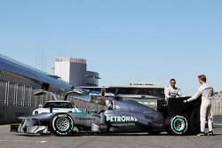 Lewis Hamilton, Mercedes AMG F1 and team mate Nico Rosberg, Mercedes AMG F1 unveil the new Mercedes AMG F1 W04