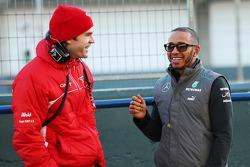 Marc Hynes, Marussia F1 Team Driver Coach with Lewis Hamilton, Mercedes AMG F1