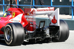 Felipe Massa, Ferrari F138 rear diffuser and rear wing