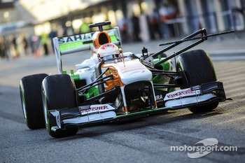 Paul di Resta, Sahara Force India VJM06 with sensor equipment and flow-vis paint